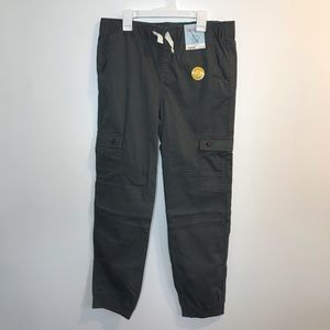 NEW Cat & Jack Boys Gray Jogger Pants 14 Husky
